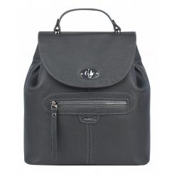 Вместительный городской женский рюкзак из натуральной кожи, серого цвета от Franchesco Mariscotti, арт. AB23045