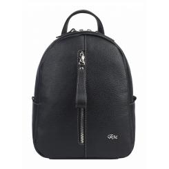 Модный городской женский рюкзак из натуральной кожи, черного цвета от Franchesco Mariscotti, арт. AB23061