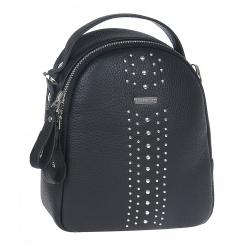 Стильный городской женский рюкзак из натуральной кожи, черного цвета от Franchesco Mariscotti, арт. AB23114
