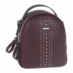 Стильный городской женский рюкзак из натуральной кожи вишневого цвета от Franchesco Mariscotti, арт. AB23116