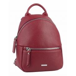 Элегантный городской женский рюкзак из натуральной кожи гранатового цвета от Franchesco Mariscotti, арт. AB23158