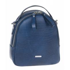Модный городской женский рюкзак из натуральной кожи, синего цвета от Franchesco Mariscotti, арт. AB23231