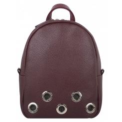 Модный городской женский рюкзак из натуральной кожи вишневого цвета от Franchesco Mariscotti, арт. AB23318