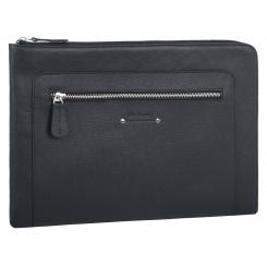 Тонкая мужская папка для документов из натуральной кожи, черного цвета от Franchesco Mariscotti, арт. AB23320
