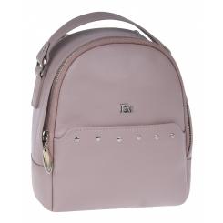 Маленький женский рюкзак из натуральной кожи, кремового цвета, с одним отделом от Franchesco Mariscotti, арт. AB23736