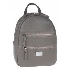 Кожаный женский рюкзак, бежевого цвета, с одним небольшим отделением от Franchesco Mariscotti, арт. AB23737