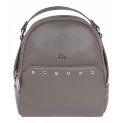 Маленький кожаный женский рюкзак, бежевого цвета, с одним отделением на молнии от Franchesco Mariscotti, арт. AB23742