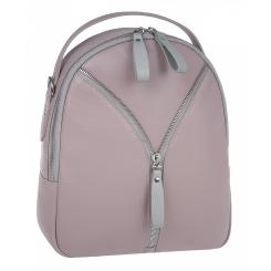 Кожаный женский рюкзак трансформер, кремового цвета, с одним отделом на молнии от Franchesco Mariscotti, арт. AB23760