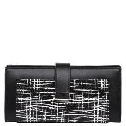 Кожаный женский кошелек, черного цвета, с кармашками для пластиковых карт от Galaday, арт. 2CW4461Q-black