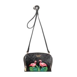 Женская сумка из натуральной кожи черного цвета с эффектным рисунком от Gaude, арт. х1501рсгм