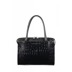 Стильная женская сумка из натуральной мягкой и лакированной кожи от Gaude, арт. SSG2400