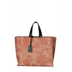 Женская сумка шоппер из натуральной светло-красной кожи с рисунком от Gaude, арт. SSG9561 mattone