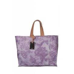 Сиреневая женская сумка из натуральной кожи с рисунком от Gaude, арт. SSG9561tv