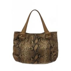 Объемная женская сумка мешок из натуральной кожи с тиснением от Gaude, арт. SSGM2400bn