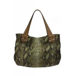 Женская сумка мешок из натуральной кожи зеленого цвета с рисунком от Gaude, арт. SSGM2400bv