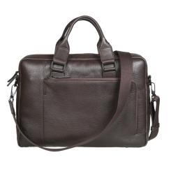 Большая мужская деловая сумка из темно-коричневой натуральной кожи от Gianni Conti, арт. 1811342 dark brown