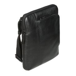 Стильная мужская сумка-планшет из черной натуральной кожи от Gianni Conti, арт. 1812280 black