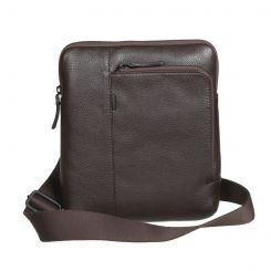 Мужская сумка-планшет из темно-коричневой натуральной кожи от Gianni Conti, арт. 1812280 dark brown