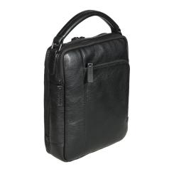 Мужская кожаная сумка-планшет с двумя отделениями и удобной ручкой от Gianni Conti, арт. 1812281 black