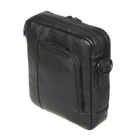 Мужская кожаная сумка-планшет со съемным наплечным ремнем от Gianni Conti, арт. 1812282 black