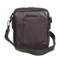 Темно-коричневая мужская сумка-планшет из натуральной кожи от Gianni Conti, арт. 1812282 dark brown