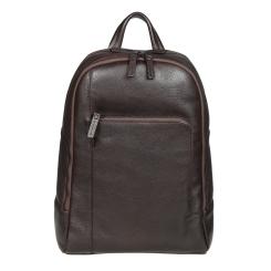 Практичный мужской городской рюкзак из коричневой натуральной кожи от Gianni Conti, арт. 1812288 dark brown