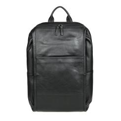 Черный мужской рюкзак из натуральной кожи с большим отделом от Gianni Conti, арт. 1812719 black