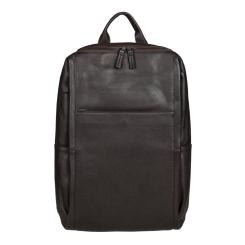Темно-коричневый большой мужской городской рюкзак из натуральной кожи от Gianni Conti, арт. 1812719 dark brown