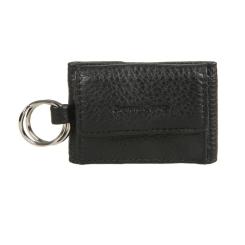 Универсальный кожаный брелок черного цвета, с клапаном на кнопке от Gianni Conti, арт. 1819086 black