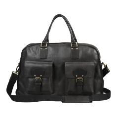 Мужская дорожная сумка черного цвета с накладными внешними карманами от Gianni Conti, арт. 2182726 black