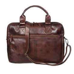Мужская деловая сумка из натуральной мягкой кожи с глянцевым эффектом от Gianni Conti, арт. 4101283 brown