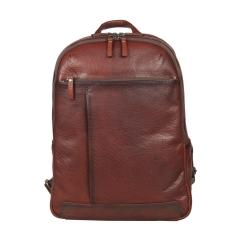 Стильный кожаный рюкзак светло-коричневого цвета, модель с двумя отделениями от Gianni Conti, арт. 4112379 tan