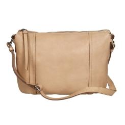Бежевая женская кожаная сумка, выполненная в лаконичном стиле от Gianni Conti, арт. 784662 rope