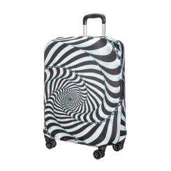 Черно-белый защитный чехол для дорожного чемодана от Gianni Conti, арт. 9037 M
