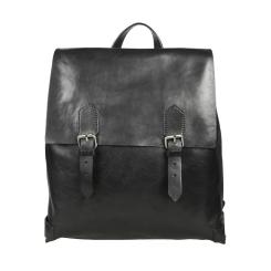 Стильный мужской рюкзак черного цвета, модель с клапаном на кнопках от Gianni Conti, арт. 912239 black