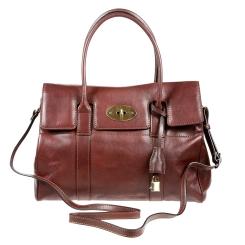 Роскошная женская кожаная сумка коричневого цвета, с замочком от Gianni Conti, арт. 914067 dark brown
