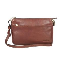 Стильная женская сумка коричневого цвета из натуральной кожи от Gianni Conti, арт. 914897 dark brown