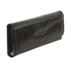 Компактная ключница черного цвета, модель из натуральной кожи от Gianni Conti, арт. 9409069 black