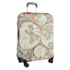 Бежевое защитное покрытие для чемодана из полиэстера и лайкры от Gianni Conti, арт. 9050 L