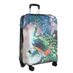 Стильное защитное покрытие для чемодана из полиэстера и лайкры от Gianni Conti, арт. 9051 S