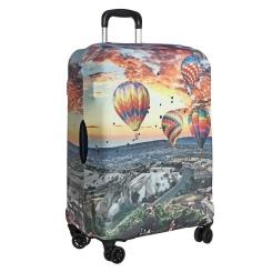 Защитное покрытие для чемодана из с красивым и ярким принтом от Gianni Conti, арт. 9052 M