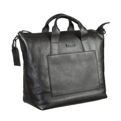 Дорожная мужская сумка из натуральной кожи, черного цвета, с одним отделением от Gianni Conti, арт. 1502072 black