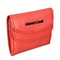 Женское портмоне из натуральной кожи, кораллового цвета, с двумя отделениями от Gianni Conti, арт. 2788034 coral