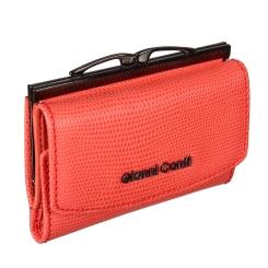 Кожаный женский кошелек, кораллового цвета, с двумя отделениями для купюр от Gianni Conti, арт. 2788422 coral