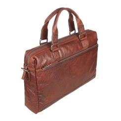 Большая деловая мужская сумка из натуральной кожи, с одним отделением от Gianni Conti, арт. 4111374 tan