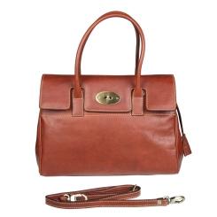 Коричневая женская сумка из натуральной кожи, с одним отделением от Gianni Conti, арт. 914067 tan