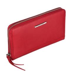 Женский кошелек из натуральной кожи, бордового цвета, со съемным ремешком от Gianni Conti, арт. 9508206 dark red