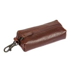 Практичная ключница среднего размера, выполненная из плотной кожи от Gianni Conti, арт. 1139075E dark brown