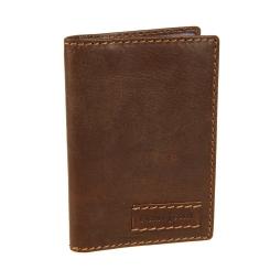 Темно-коричневая обложка для автодокументов с кармашками и прозрачными файлами от Gianni Conti, арт. 1227455 dark brown