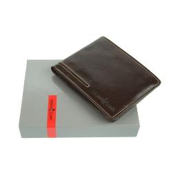 Эргономичное мужское портмоне с несколькими кармашками для кредиток от Gianni Conti, арт. 707012 brown